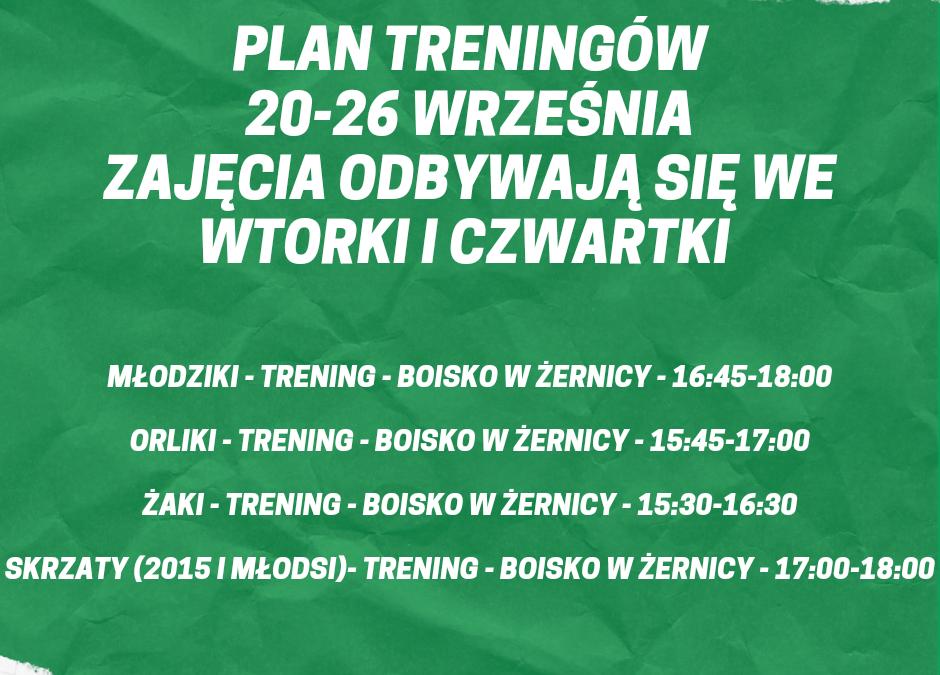 Plan treningów